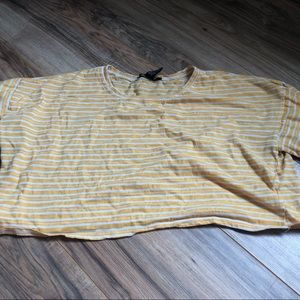 yellow and white striped forever 21 crop top